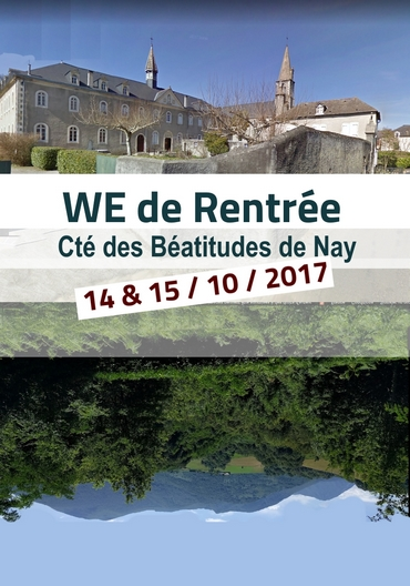 Visuel annonce Week-End Rentree - Cté Beatitudes Nay